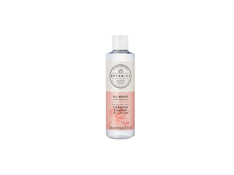 Botanics All Bright with Hibiscus Micellar 3 in 1 Cleansing Solution, 8.4 fl oz