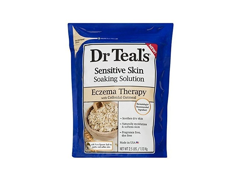Dr. Teal's Sensitive Skin Soaking Solution, Soothing Eczema Bath, 2.5 LBS