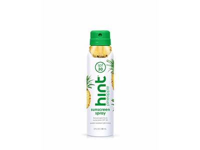Hint Sunscreen Spray, Pineapple, SPF 30, 3 fl oz