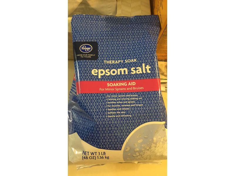 Kroger Therapy Soak Epsom Salt, 3 lb