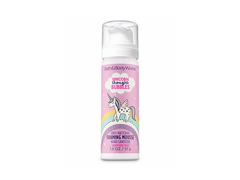 Bath Body Works Foaming Mousse Hand Sanitizer Unicorn Bubbles Champagne Toast, 1.8 oz