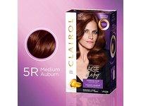 Clairol Age Defy Permanent Hair Color, 5R Medium Auburn, 1 Count - Image 2