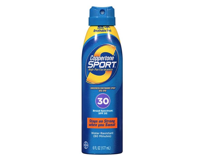 Coppertone Sport SPF 30 Continuous Spray Clear, 6 fl oz/177 mL
