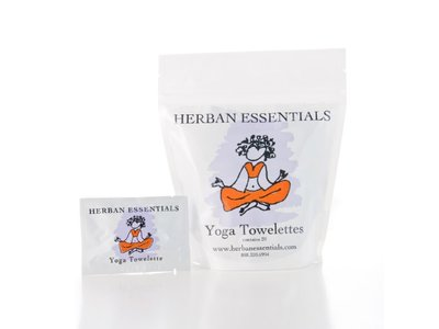Herban Essentials Yoga Towelettes, 20 count