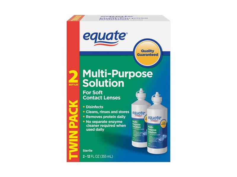Equate Multi-Purpose Solution, Twin Pack 2-12 oz
