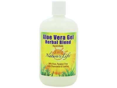 Nature's Life Aloe Vera Gel, Herbal Blend, 16 Ounce