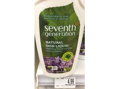Seventh Generation Natural Dish Liquid, Lavender Floral & Mint, 25 oz. ( Multi-Pack) - Image 3