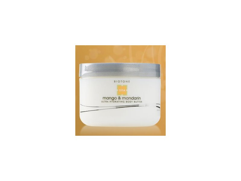 Biotone Ultra Hydrating Body Butter, Mango and Mandarin, 8.5 Fluid Ounce