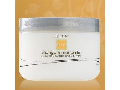 Biotone Ultra Hydrating Body Butter, Mango and Mandarin, 8.5 Fluid Ounce