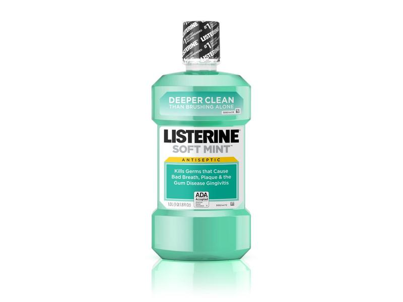 Listerine Antiseptic Mouthwash, Soft Mint, 50.7 fl oz