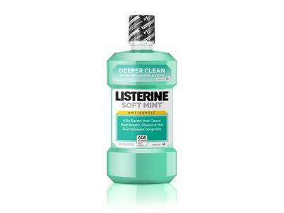 Listerine Antiseptic Mouthwash, Soft Mint, 50.7 fl oz - Image 1