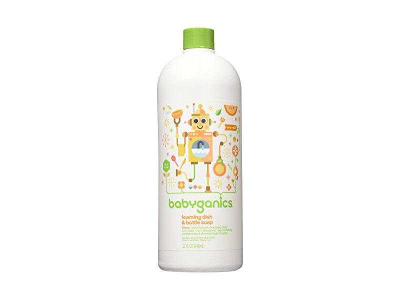 Babyganics Foaming Dish and Bottle Soap Refill, Citrus, 32oz Bottle