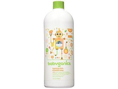 Babyganics Foaming Dish and Bottle Soap Refill, Citrus, 32oz Bottle - Image 1