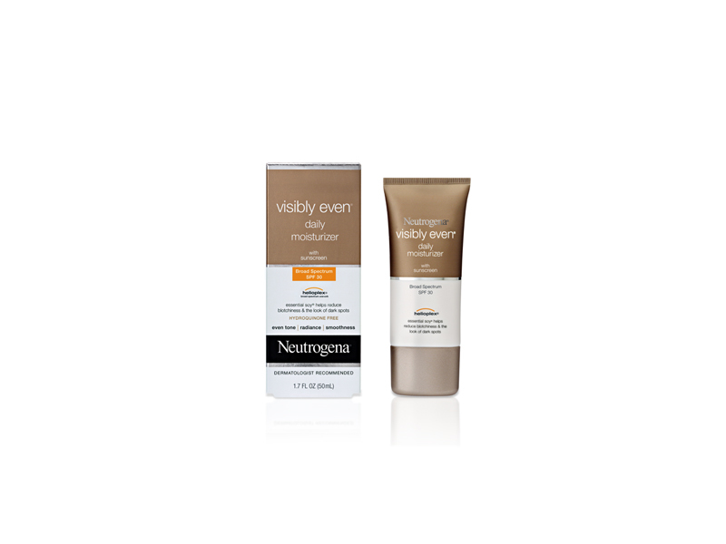 Neutrogena Visibly Even Daily Moisturizer Broad Spectrum SPF-30, Johnson & Johnson