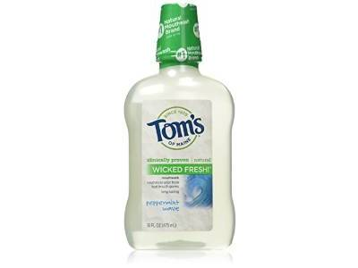 Tom's of Maine Long Lasting Wicked Fresh Peppermint Wave Mouth Wash, 16 ounce