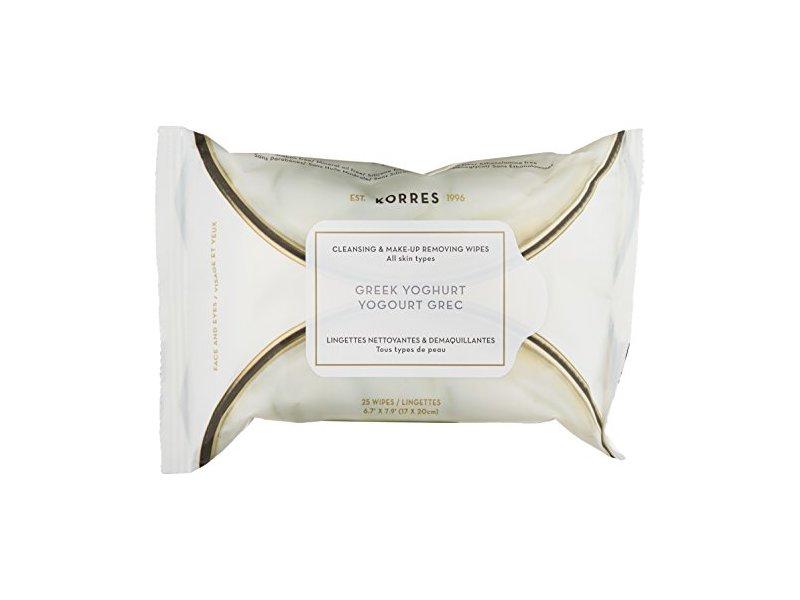 KORRES Greek Yoghurt Cleansing and Make-Up Removing Wipes, 0.35 lb.