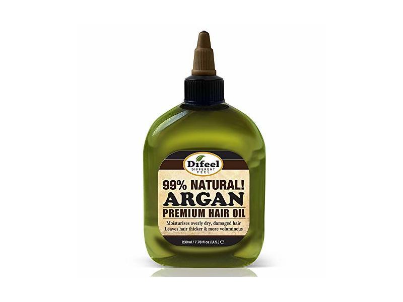 Difeel 99% Natural Premium Hair Oil, Argan, 7.78 fl oz / 230 ml