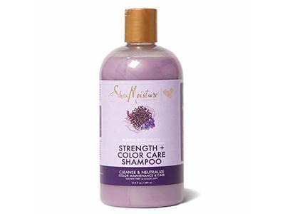 SheaMoisture Purple Rice Water Strength + Color Care Shampoo for Damaged Hair, 13 oz