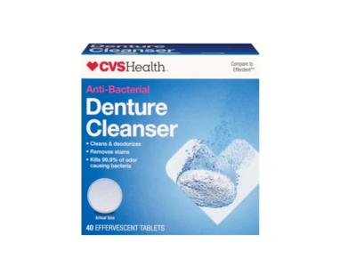 CVS Health Anti-Bacterial Denture Cleanser, 40 tablets