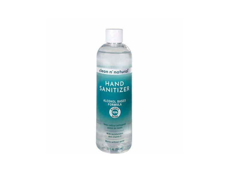Clean n' Natural Hand Sanitizer, Alcohol Based Formula, 12 fl oz / 354 mL