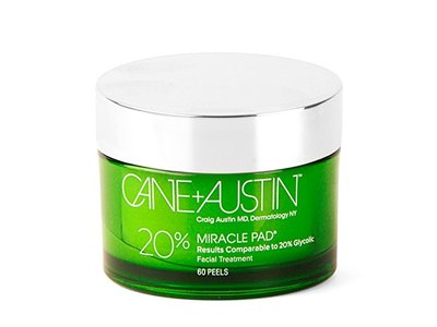 CANE + AUSTIN Miracle Pad, 20% Glycolic Equivalent Facial Peel Pads, 60 count
