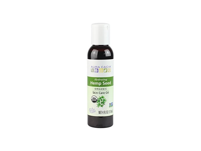 Aura Cacia Organic Hydrating Hemp Seed Skin Care Oil | 4 fl oz.