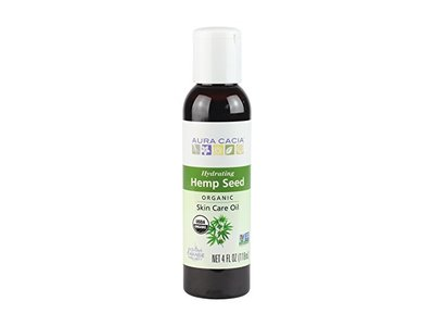 Aura Cacia Organic Hydrating Hemp Seed Skin Care Oil | 4 fl oz. - Image 1