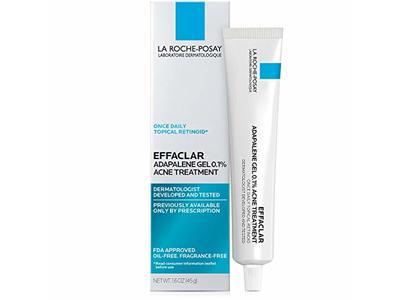 La Roche-Posay Effaclar Adapalene Gel 0.1% Acne Treatment, 1.6 Oz.