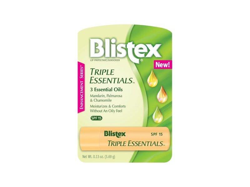 Blistex Triple Essentials Lip Protectant Sunscreen SPF 15 Lip Balm, 0.13 oz