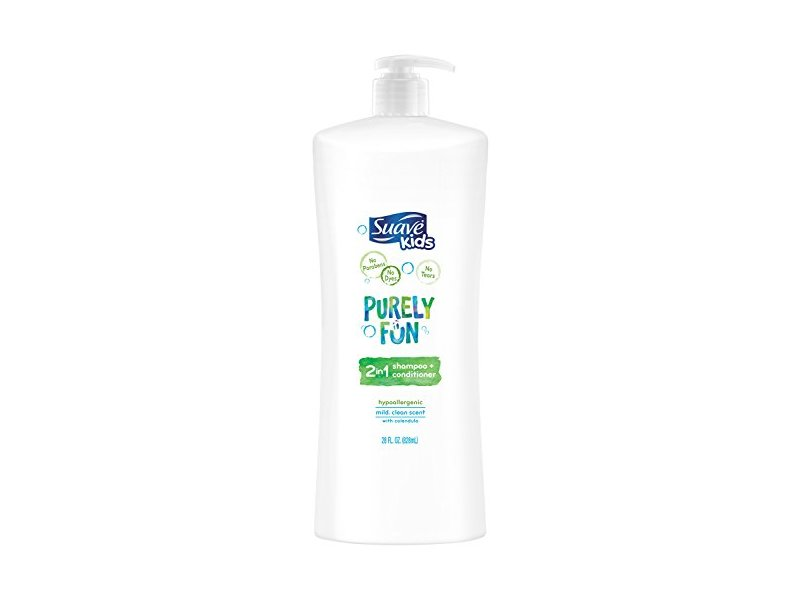Suave Kids 2-in-1 Shampoo and Conditioner, Purely Fun, 28 Ounce