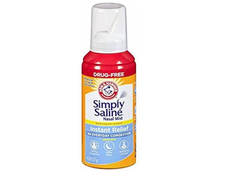 Arm & Hammer Simply Saline Instant Relief Nasal Mist, .25 fl oz/126 mL