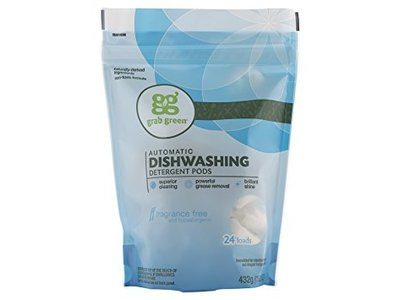 Grab Green Automatic Dishwashing Detergent, Fragrance Free, 24 loads