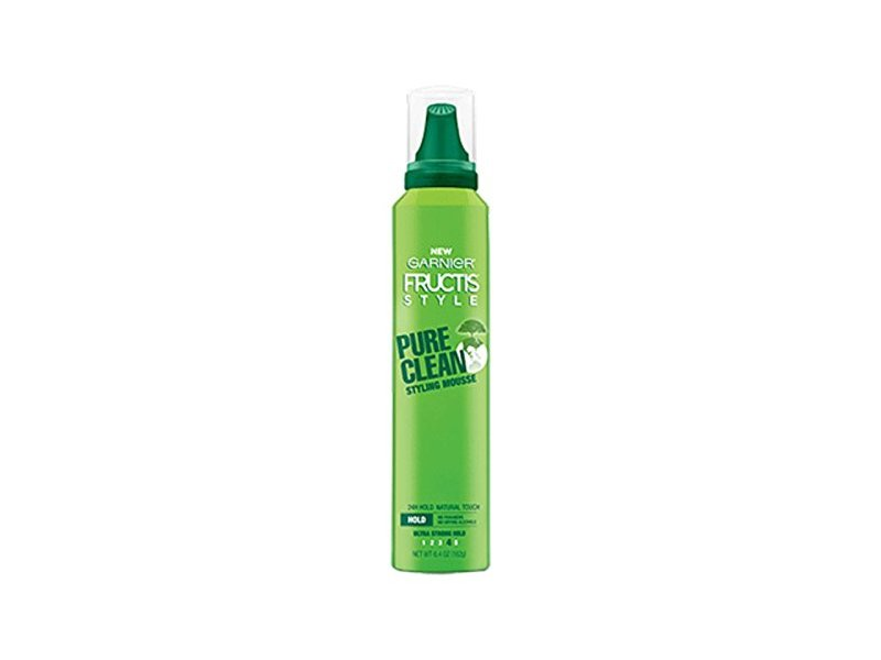 Garnier Fructis Pure Clean Styling Mousse, 6.4 Oz (Pack of 2)