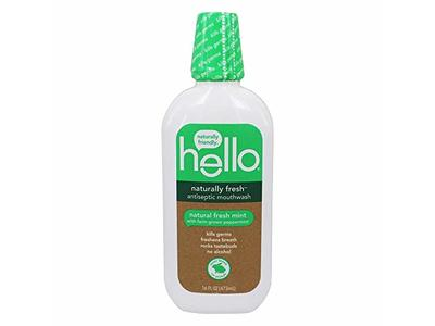 Hello Naturally Fresh Antiseptic Mouthwash, Fresh Mint, 16 fl oz