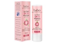 Babo Botanicals SPF 15 Lip Tint Conditioner, Wild Rose, 0.15 oz - Image 2