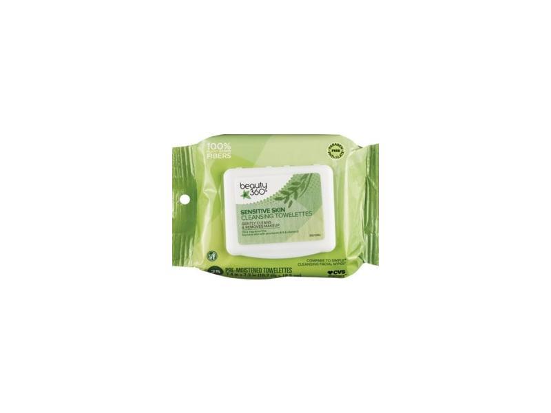 Beauty 360 Pre Moistened Sensitive Skin Cleansing Wipes