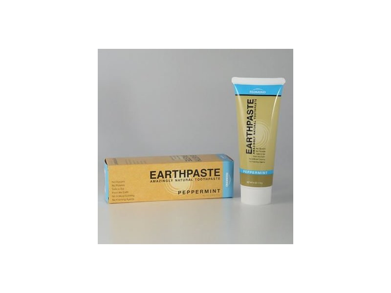 Redmond Life Earthpaste Amazingly Natural Toothpaste, Peppermint, 4 oz