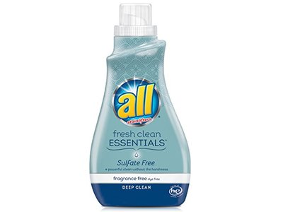All Fresh Clean Essentials Laundry Detergent, Fragrance Free, 30 Ounce (23 loads)