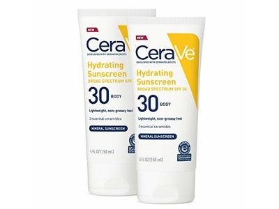 Cerave Hydrating Sunscreen Body SPF 30, 5 oz (Pack of 2) - Image 1