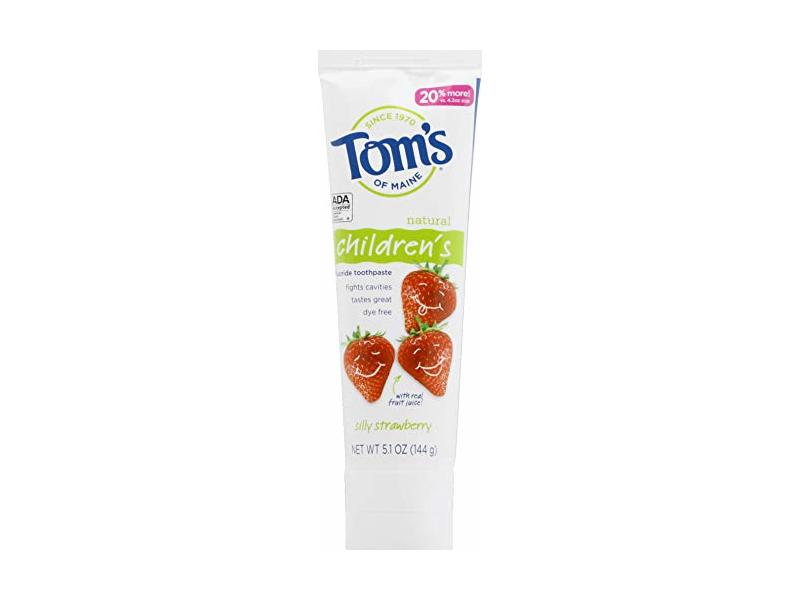 Tom's of Maine Silly Strawberry Children's Anticavity Toothpaste, 5.1 Oz