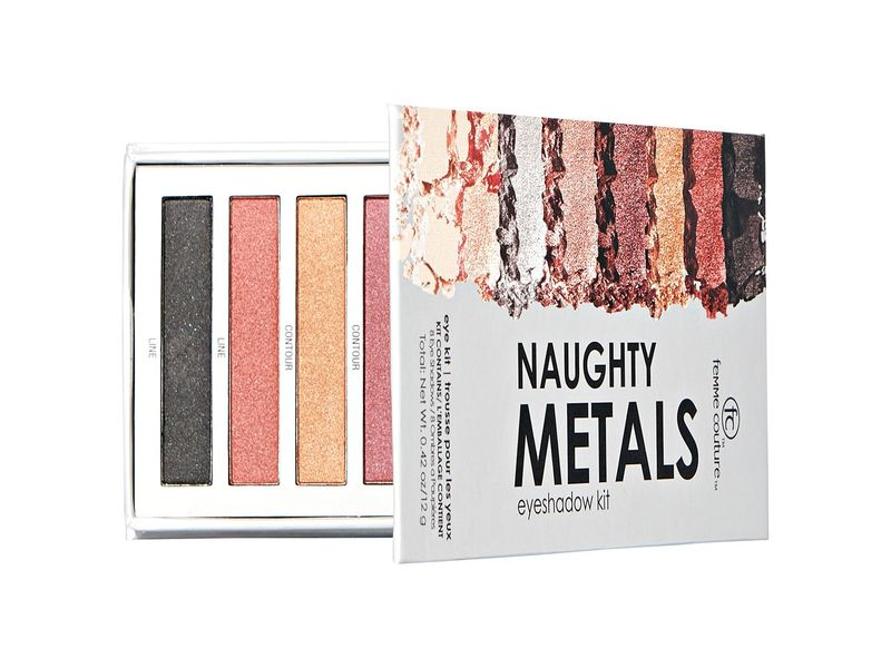 Femme Couture Naughty Metals Eyeshadow Kit, 0.42 oz