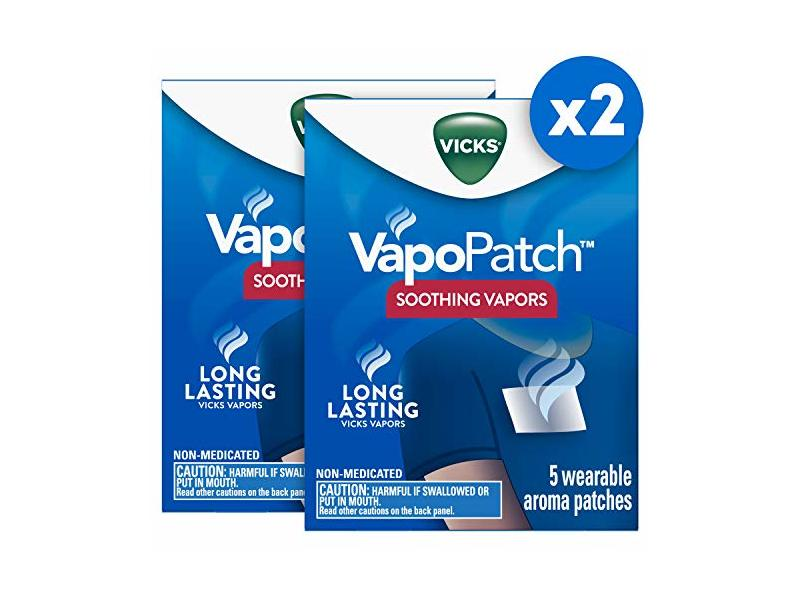 Vicks Vapopatch With Long Lasting Soothing Vapors, 5 Count