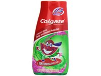 Colgate Kids 2 In 1 Toothpaste & Mouthwash, Watermelon Flavor, 4.6 oz - Image 2