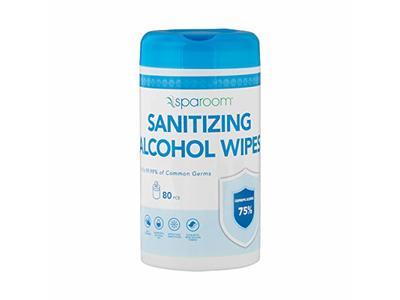 Sparoom Sanitizing Alcohol Wipes, 80 Pieces