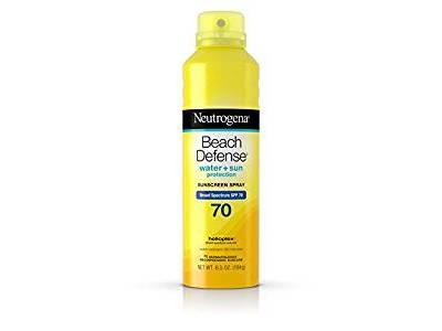 Neutrogena Beach Defense Broad Spectrum SPF 70 Sunscreen Spray, 6.5 oz