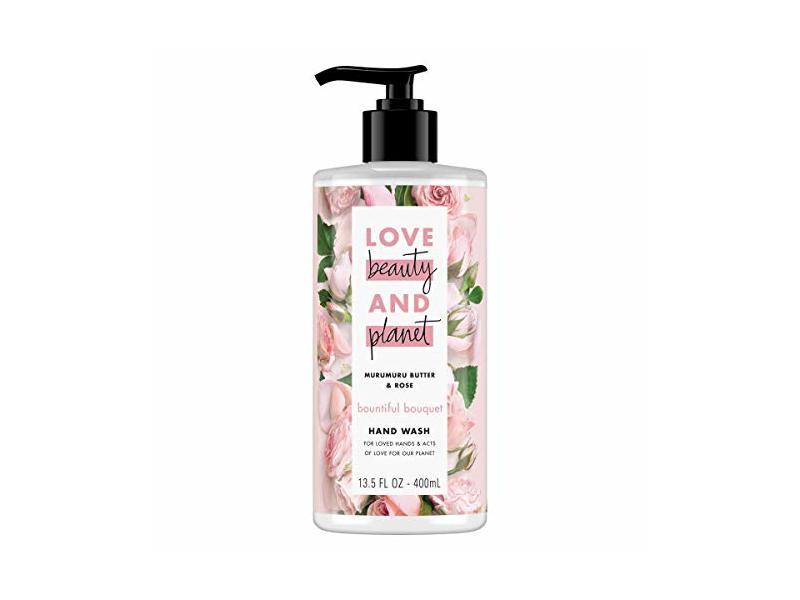 Love Beauty and Planet Bountiful Bouquet Murumuru Butter & Rose Hand Wash, 13.5 fl oz