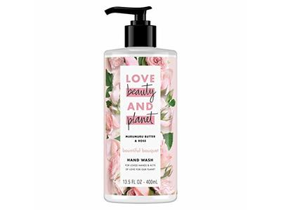 Love Beauty and Planet Bountiful Bouquet Murumuru Butter & Rose Hand Wash, 13.5 fl oz