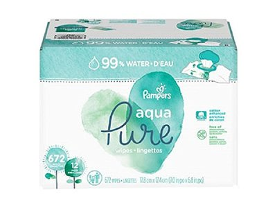 Pampers Aqua Pure Baby Wipes, 672 ct