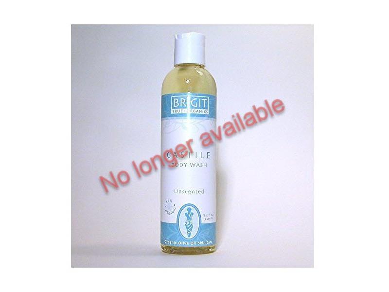 Brigit True Organics Castile Body Wash, Unscented, 8.5 fl oz (No longer available)