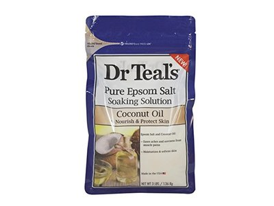Dr Teal's Pure Epsom Salt Soaking Solution, Coconut Oil, 3 lbs